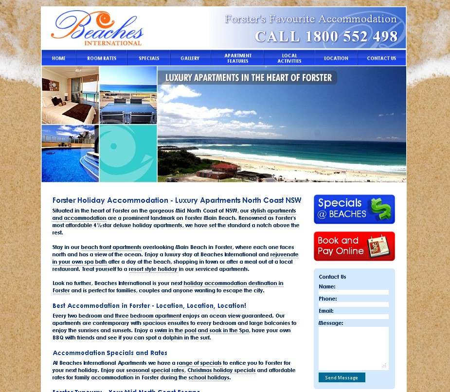 Beaches – Forster Accommodation