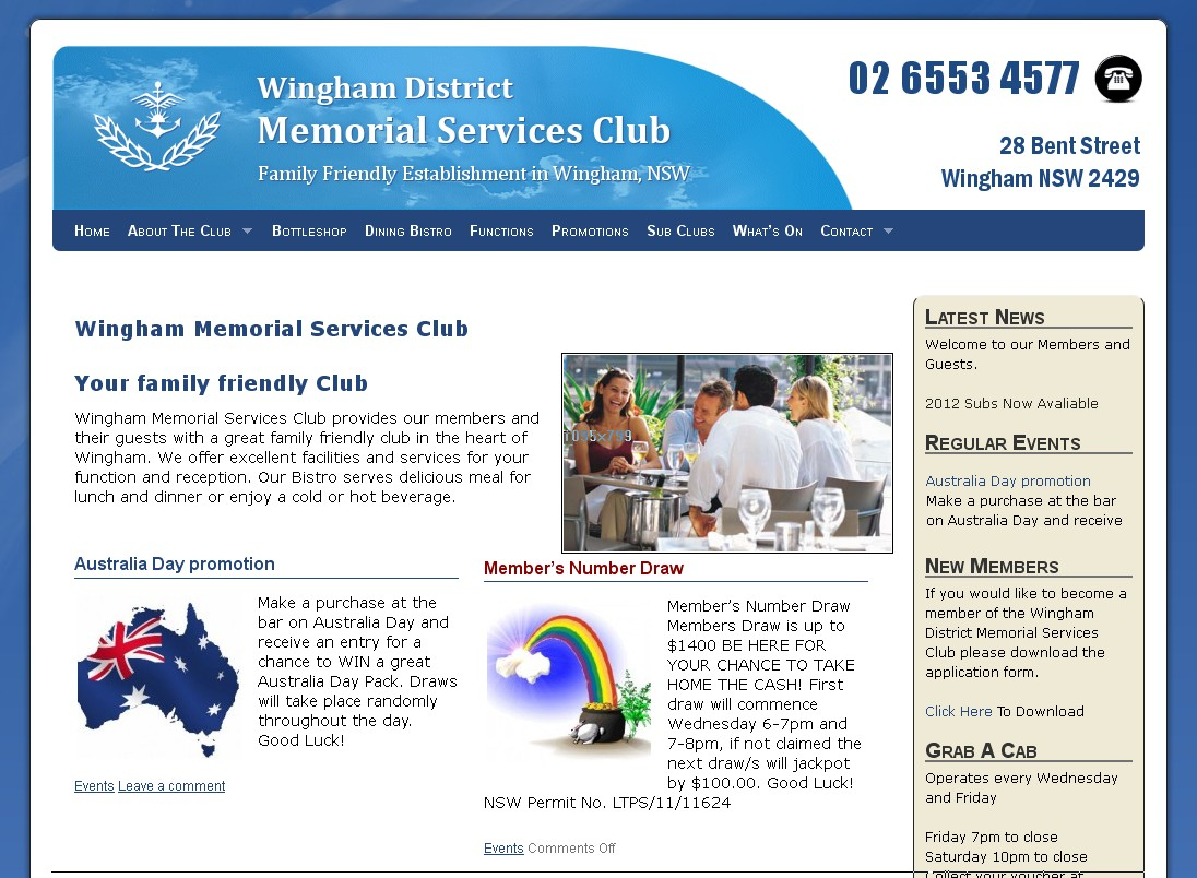 Wingham Memorial Services Club