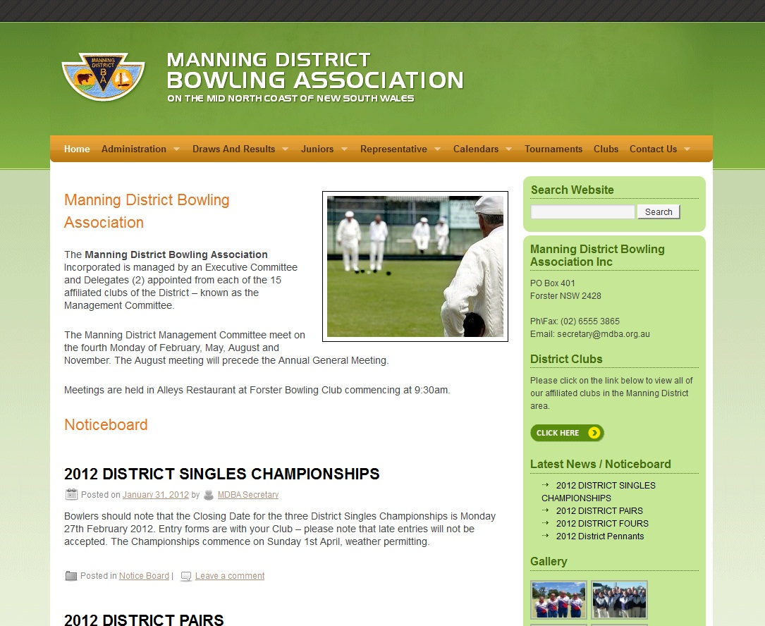 Manning District Bowling Association