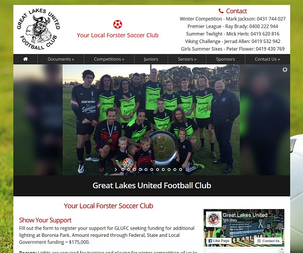 Sporting Club Websites