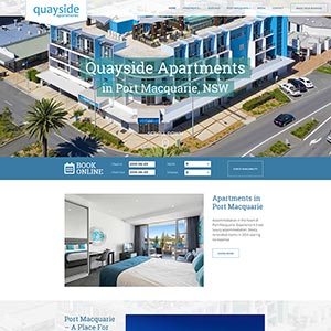 Port Macquarie Website for Quayside Apartments