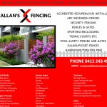 Allans Fencing - Single Page website design